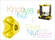 alt Knob for nut M8. Print with nut insert